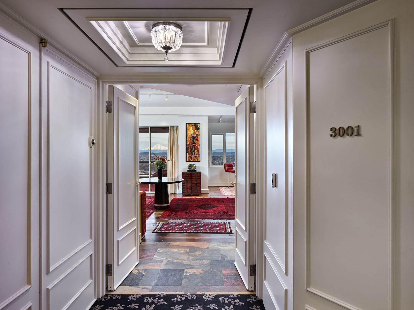 Entry to the Fountain Plaza Penthouse