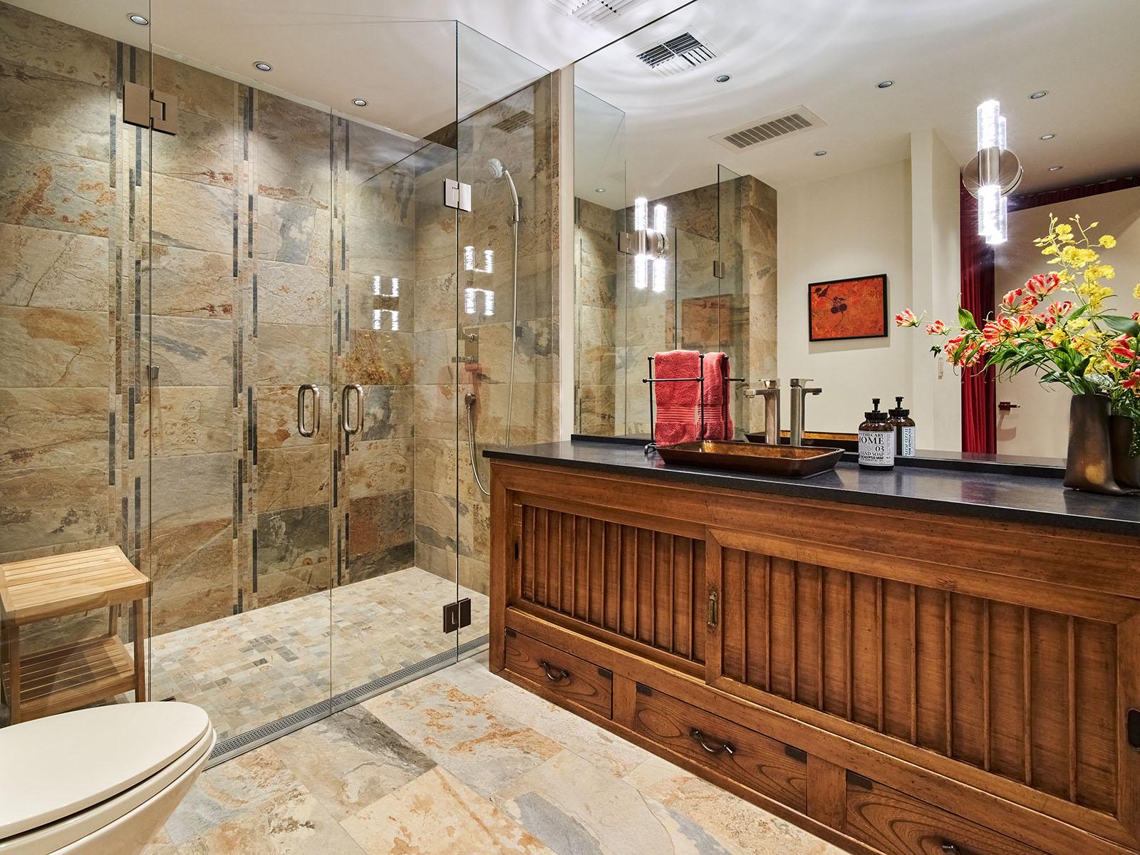 Piano room bathroom